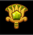 golden icon ancient egyptian lotus vector image