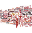 gone to the dogs with adorable airedales text vector image vector image
