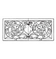 grill oblong panel was designed in 1649 vintage vector image vector image