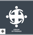 group friends glyph icon vector image vector image