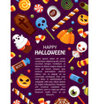Halloween trick or treat promo poster flat