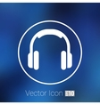 headphone icon music isolated hear funky vector image