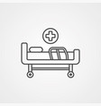 hospital bed icon sign symbol vector image