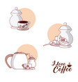 i love coffee collection vector image