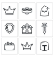Kingdom icons vector image vector image