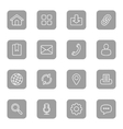 line web icon set on gray rounded rectangle vector image
