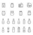 Lines icon set - ketchup vector image vector image