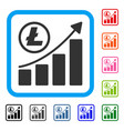 litecoin growing graph trend framed icon vector image vector image