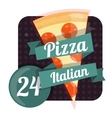 Logo pizza 24 hours around the clock Fast food vector image