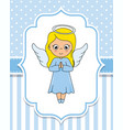 lovely angel girl with wings vector image
