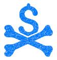 mortal debt grunge icon vector image