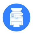 Multi-function printer in black style isolated on vector image vector image