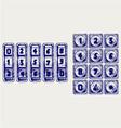 Numerical code lock vector image