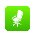 office chair wheel icon green vector image vector image