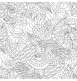 Pages for adult coloring book Hand drawn artistic vector image vector image
