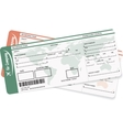 Pattern of two boarding pass or air ticket vector image vector image