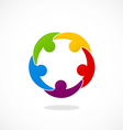 people connection teamwork logo vector image vector image