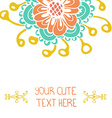 perfect simple floral card with place for your vector image vector image