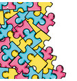 puzzle pieces game background design vector image vector image