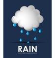 rain weather design vector image vector image