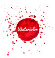 red watercolor splash background vector image vector image
