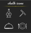 Restaurant kitchen equipment icons vector image