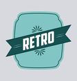 retro ribbon vector image