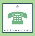 retro telephone icon vector image vector image
