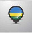 rwanda map pin vector image vector image