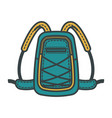 school bag or tourist backpack vector image