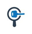 search keyword icon vector image