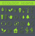 set eco icon on white background vector image