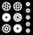 set of gears on a dark background vector image vector image