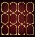 set of golden vintage frame vector image vector image