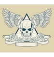 Skull with wings tattoo art design vector image vector image