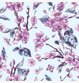 spring seamless pattern vintage floral vector image vector image
