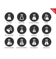 Test tubes icons on white background vector image