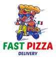 the fastest delivery of pizza vector image vector image