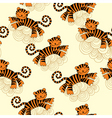 tiger pattern vector image vector image