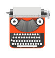 typewriter old vintage writer retro type paper vector image vector image