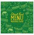 vintage food menu vector image vector image