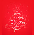 we wish you a merry christmas doodling style vector image vector image
