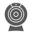 web camera glyph icon electronic and digital vector image vector image