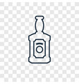 whiskey concept linear icon isolated on vector image