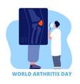 world arthritis day medicine concept defense vector image vector image