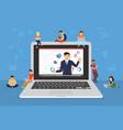 business seminar speaker presentation and vector image