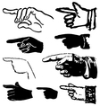 collection set of hand gestures pointing vector image