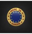 Made in EU vector image