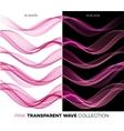 Set of color transparent smoky wave vector image
