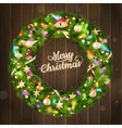 Christmas wreath EPS 10 vector image